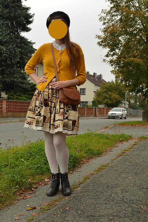 ootd, outfit, yellow, secondhand, diy, handmade, lolita, japan, classic lolita, Italy, Deichmann, C&A, Kik
