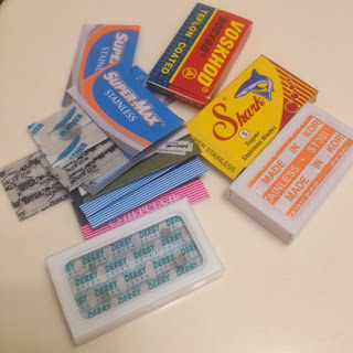 various brands of safety razor blades