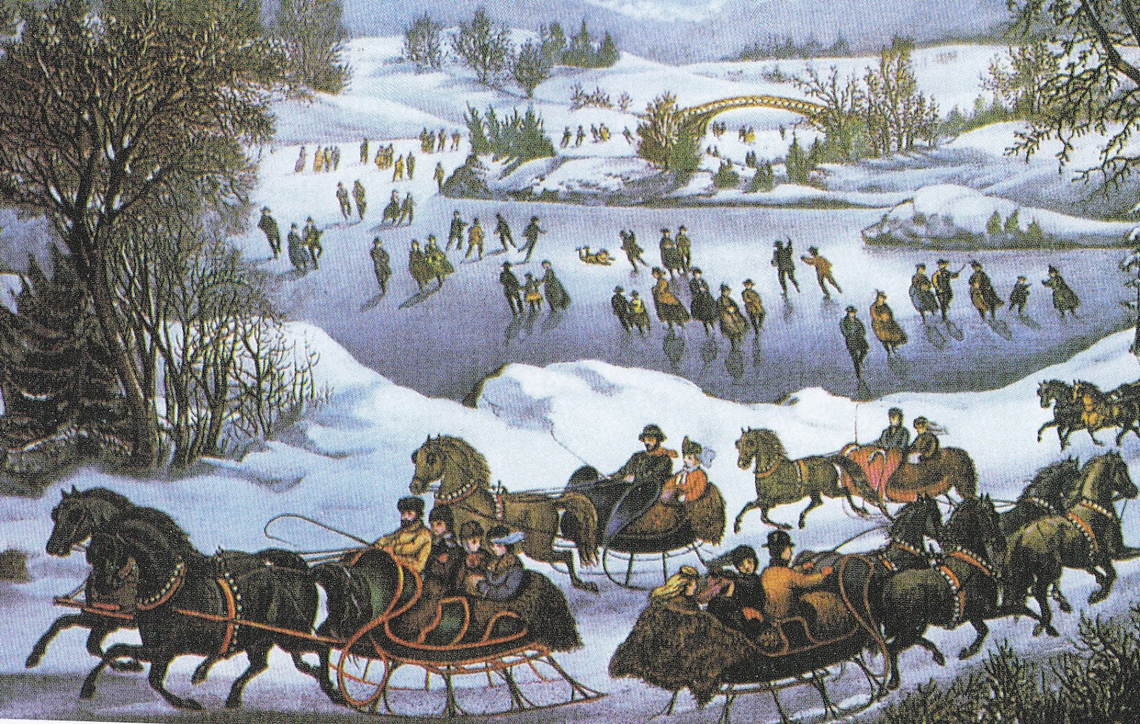 Turn Of The Century America Currier And Ives 19th Century
