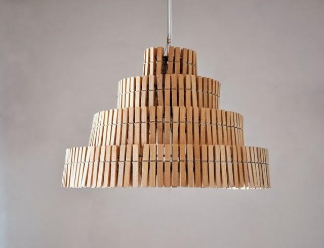 lampa klamerki do prania gadzety do domu