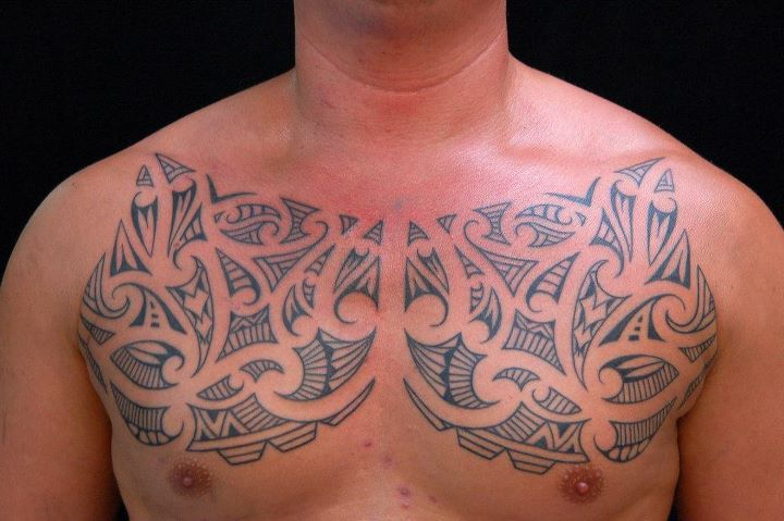 maori chest piece