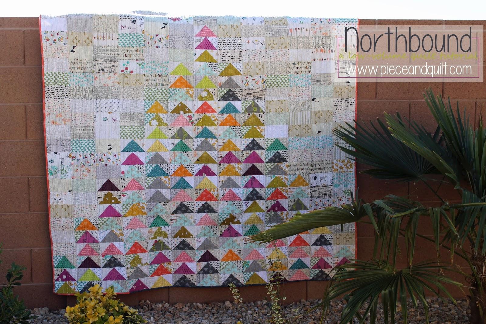 Piece N Quilt: Northbound - A Low-Volume Quilt Tutorial : modern quilt tutorial - Adamdwight.com