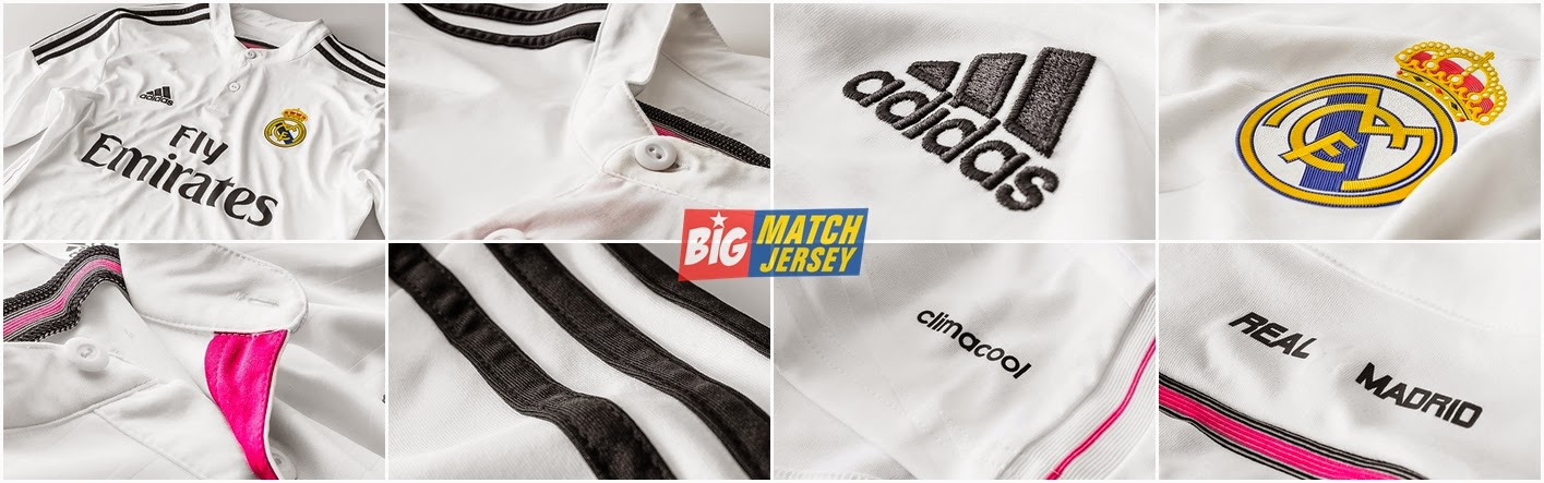 Detail Jersey GO  Real Madrid Home 2015 Official