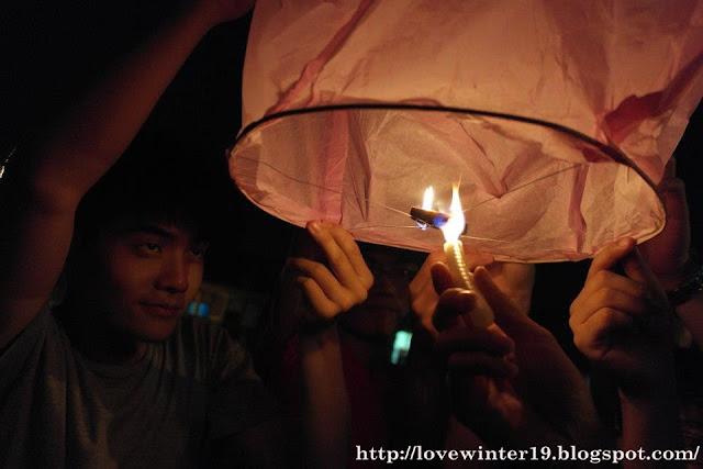 lighting up the lantern