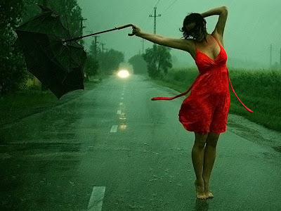 beutiful girl wallpaper in rain dance