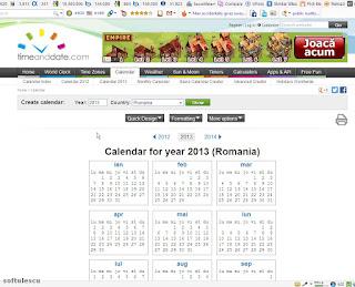 Generator calendar - TimeAndDate.com