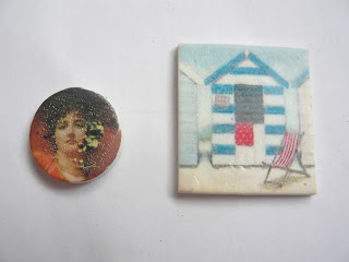 Waterslide image transfer on polymer clay