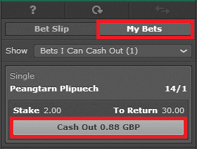 bet365 - opcija cash out