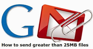 send greater than 25MB files in gmail