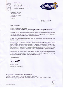 Durham Council Authority Letter