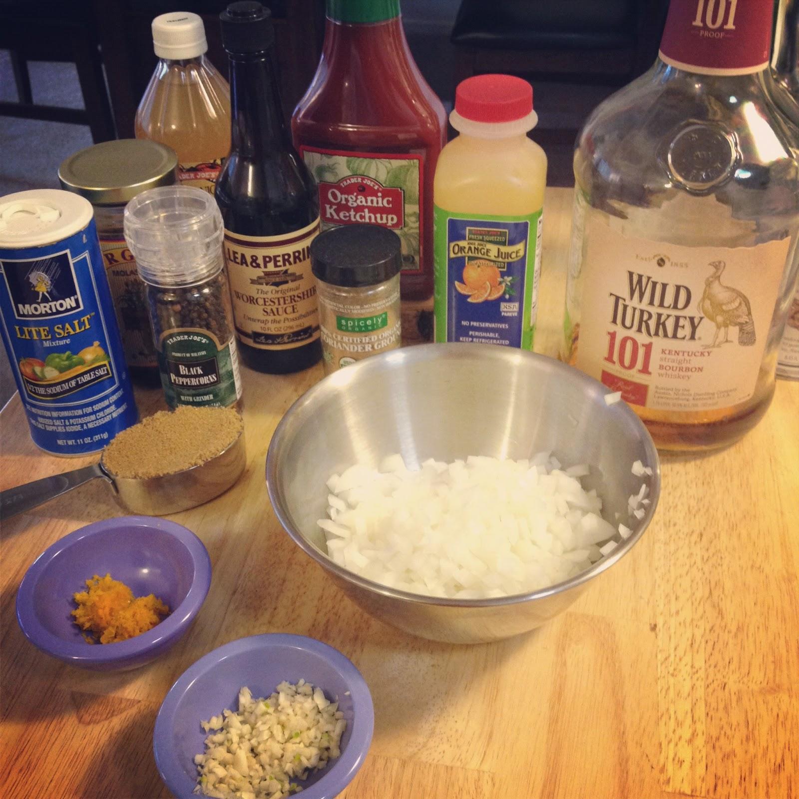 The Lush Chef: Bourbon Orange Coriander BBQ Sauce