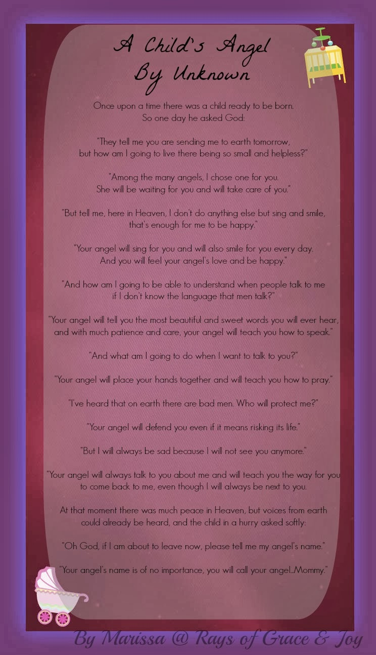 A Child's Angel - poem for mommy's hearts  {Reading List}