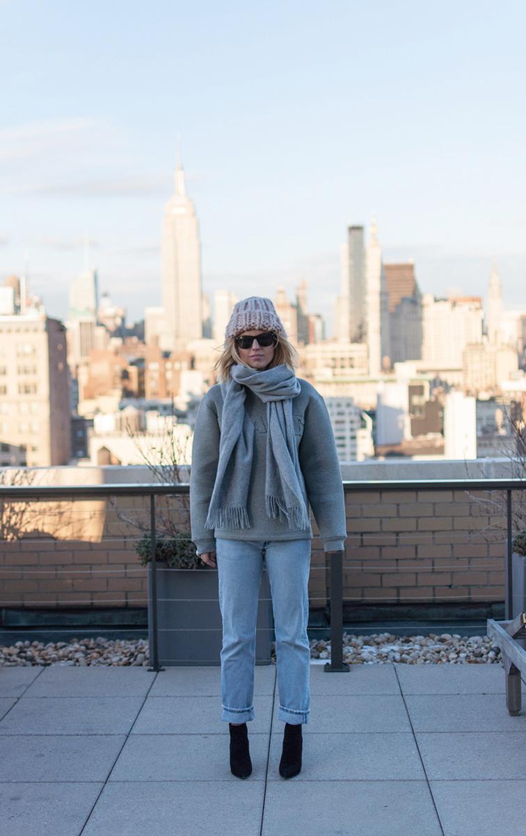 New York City, Fashion Over Reason, vintage Levi's 501 button fly, Stuart Weitzman booties