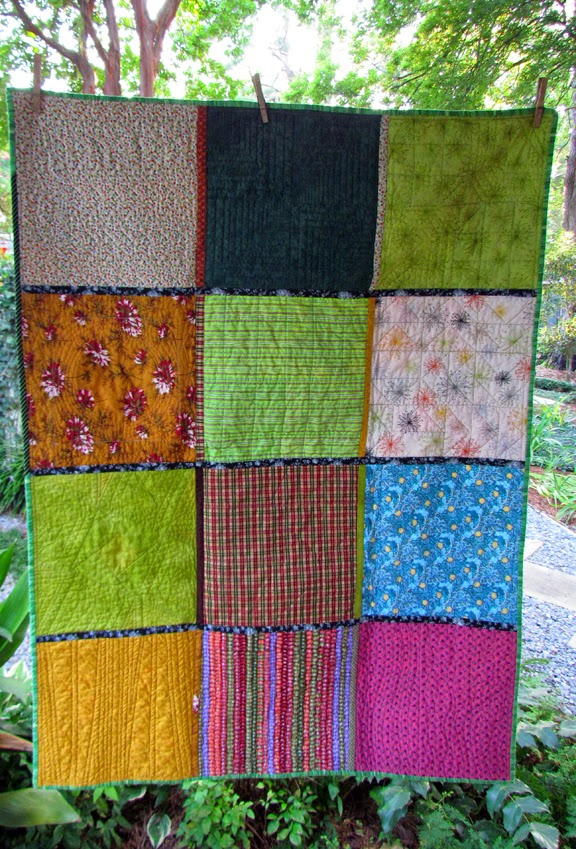back of quilt as you go sampler for community service
