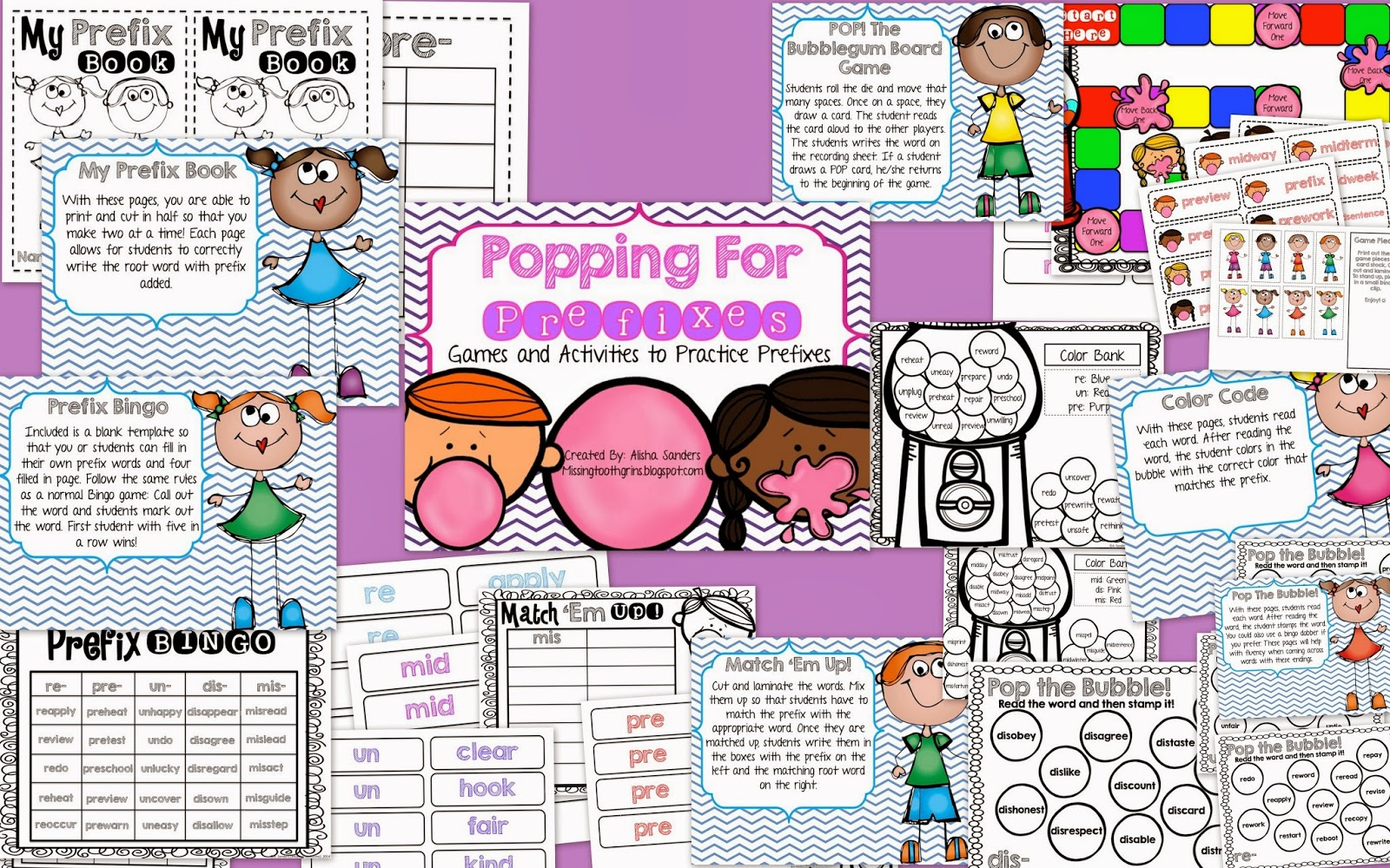 http://www.teacherspayteachers.com/Product/Popping-For-Prefixes-Games-Activities-for-Practicing-Prefixes-1137679