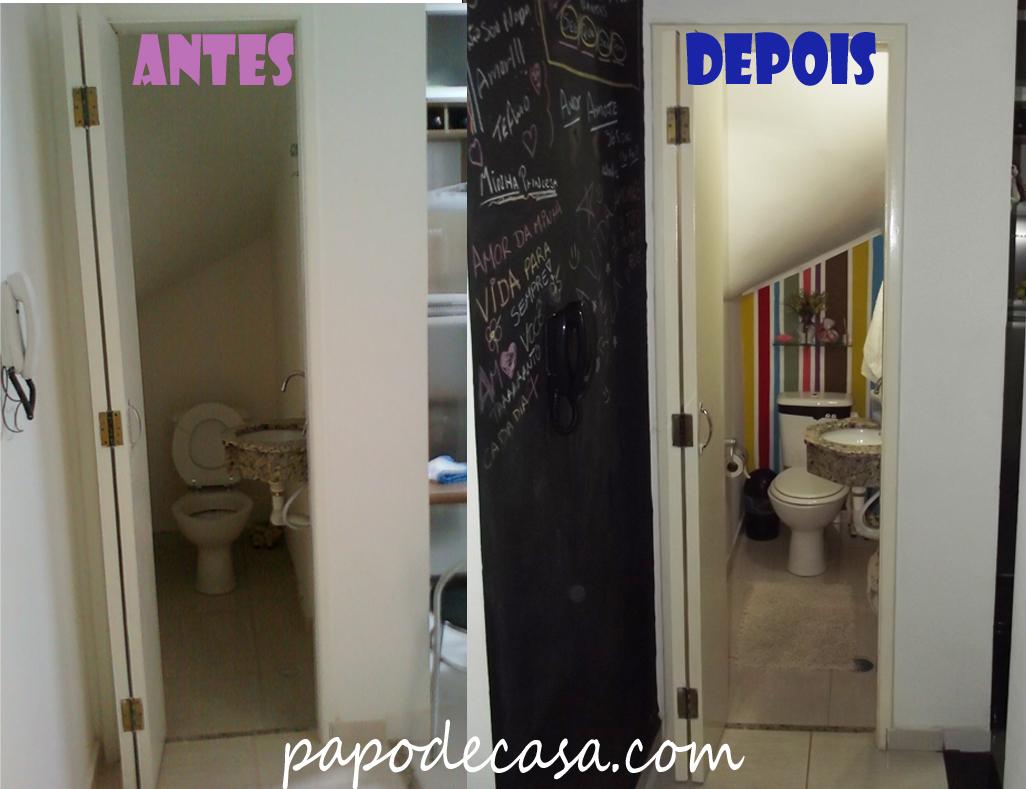 Imagens de #1A269F Antes/Depois do LAVABO Decorações e Artes 1026x789 px 3664 Banheiros Simples Antes E Depois