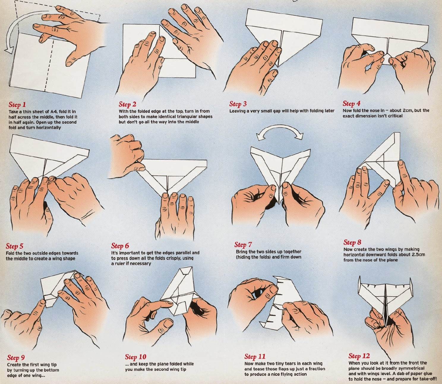 How To Make Origami Airplanes Step By