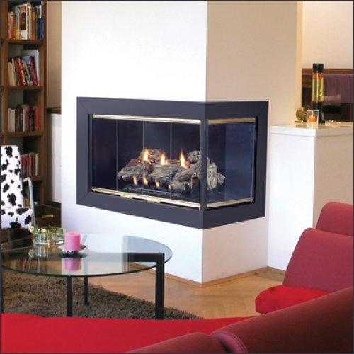 Corner fireplace for your small apartment home interior designs and decorating ideas - Space saving corner electric fireplace providing warmth for your small space ...