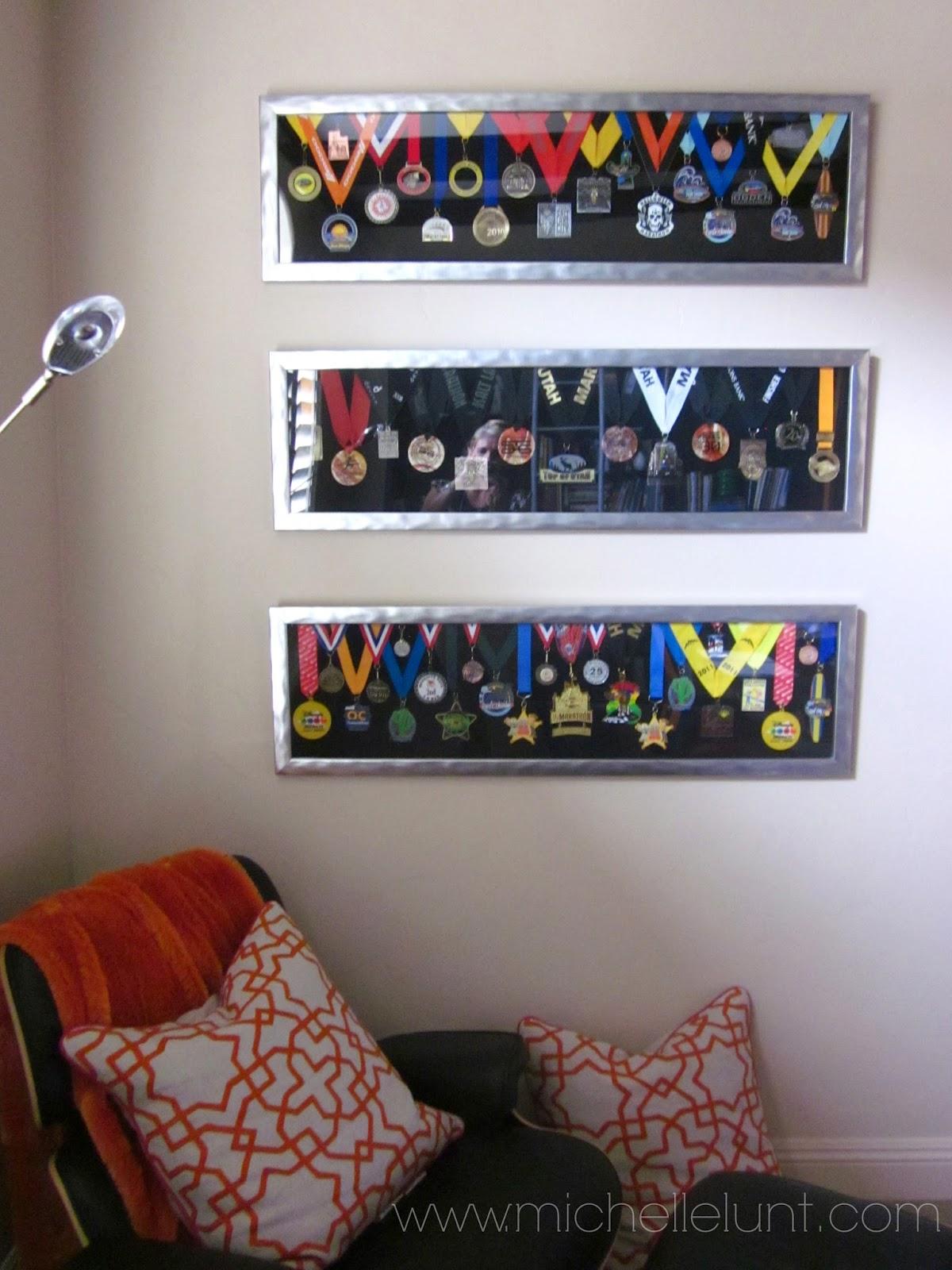 Honey I\'m Home: How to Display Marathon Medals