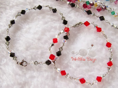 Wire wrapped Swarovski Crystal Bracelets by WireBliss