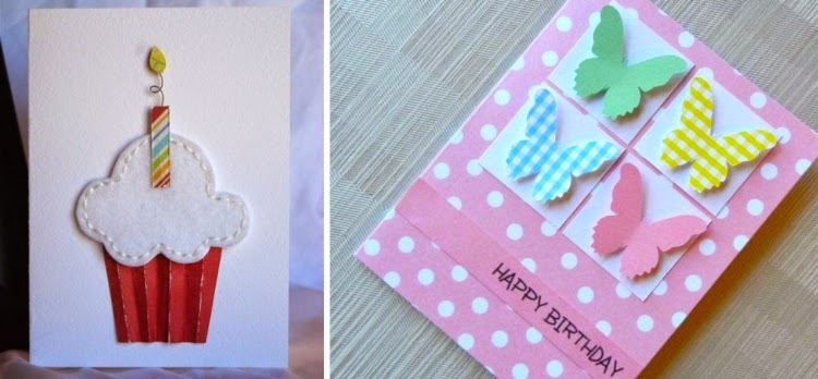 Cool Birthday Card Ideas Cupcake And Butterflies