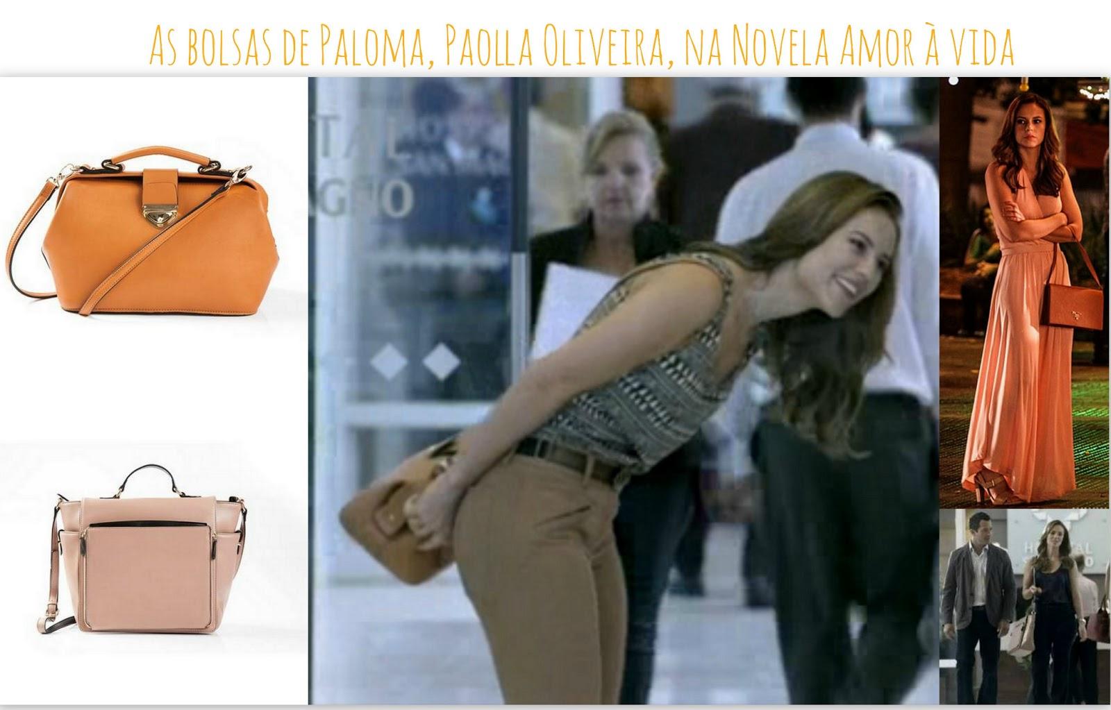 As bolsas de Paloma, Paolla Oliveira, na Novela Amor à vida
