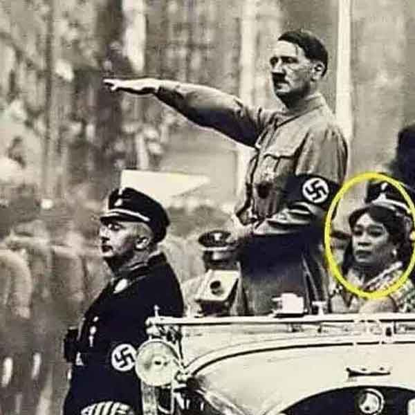 Lola Nidora and Adolf hitler spotted on a parade