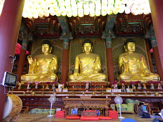 Golden Buddha at the Jogyesa Temple in Seoul