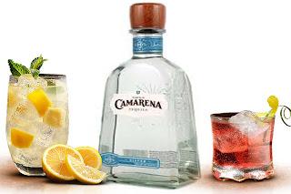 tequila Camarena Silver y 2 cócteles