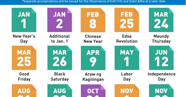 Bulletin list of nationwide holidays for 2016 released deped bulletin list of nationwide holidays for 2016 released deped tambayan ph sciox Images
