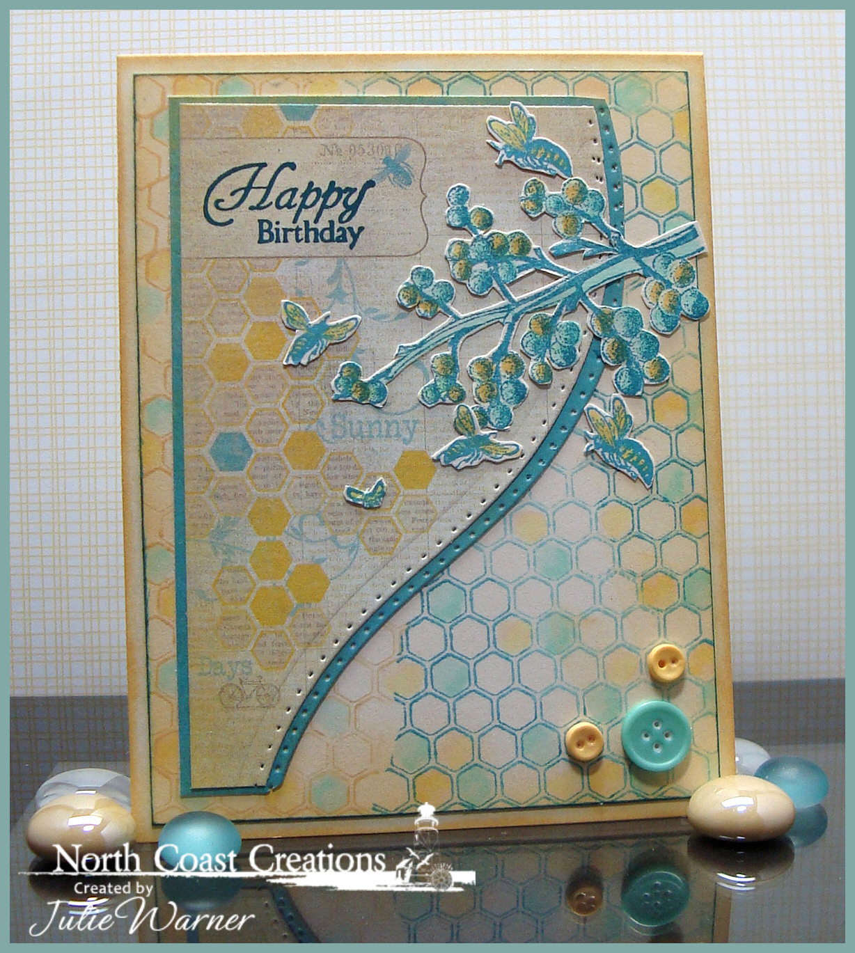 Stamps - North Coast Creations Floral Sentiments 2, ODBD Honeycomb Background, ODBD Clover