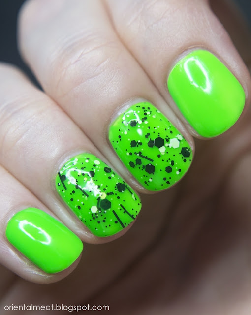Models Own-Toxic Apple & Clarie's-Splatter green