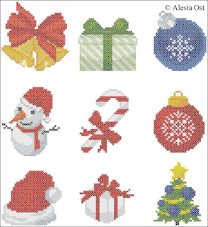 Free cross-stitch patterns, Christmas Motifs, Christmas, Snowman, bells, Christmas tree, cross-stitch, back stitch, cross-stitch scheme, free pattern, x-stitchmagic.blogspot.it, вышивка крестиком, бесплатная схема, punto croce, schemi punto croce gratis, DMC, blocks, symbols