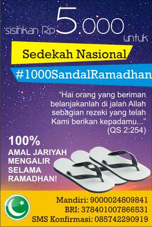 sedekah nasional sandal ramadhan