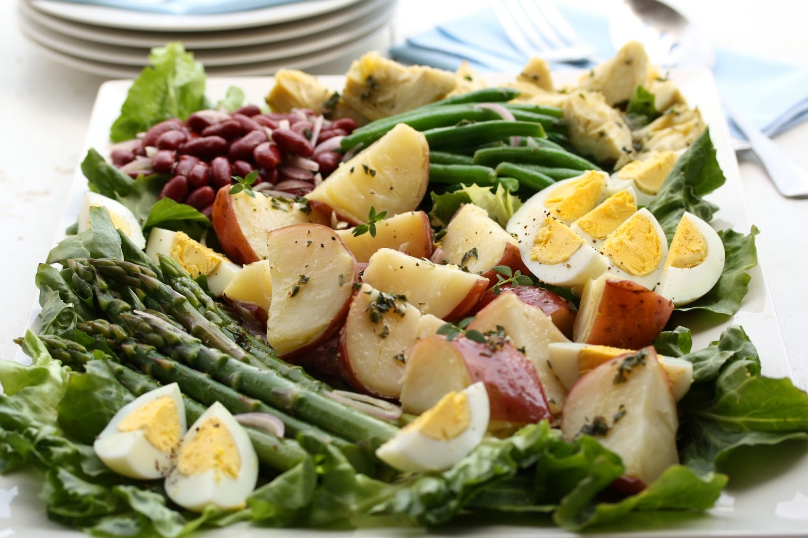 Vegetable Nicoise Salad - Saving Room for Dessert