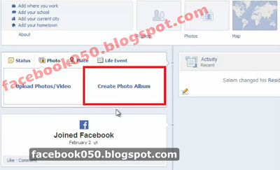 2 - إنشاء ألبومات صورية علي حسابك بموقع فيسبوك - Create Album in your facebook acount