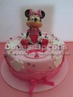 Bolo com a Minnie