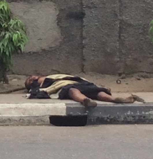 homeless woman corpse lagos