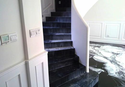 Revestimiento de escaleras con resina ideas para decorar dise ar y mejorar tu casa - Revestimiento para escaleras ...