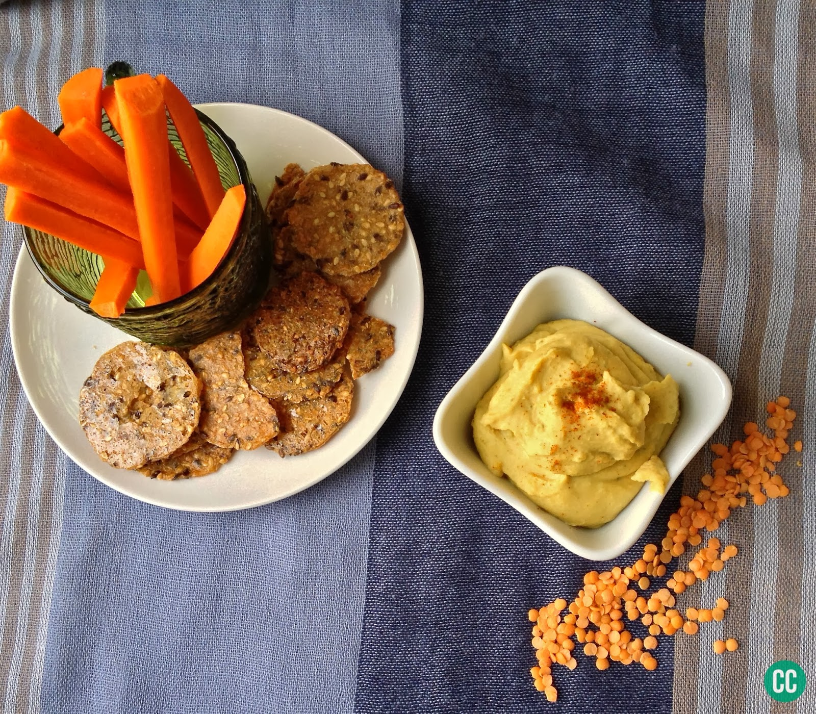 Chard in Charge: Curried Red Lentil Hummus