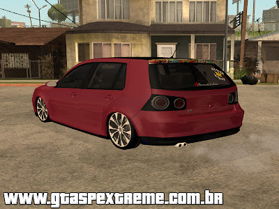 Vw Golf GTI 2008 Sticker Bombs para GTA San Andreas