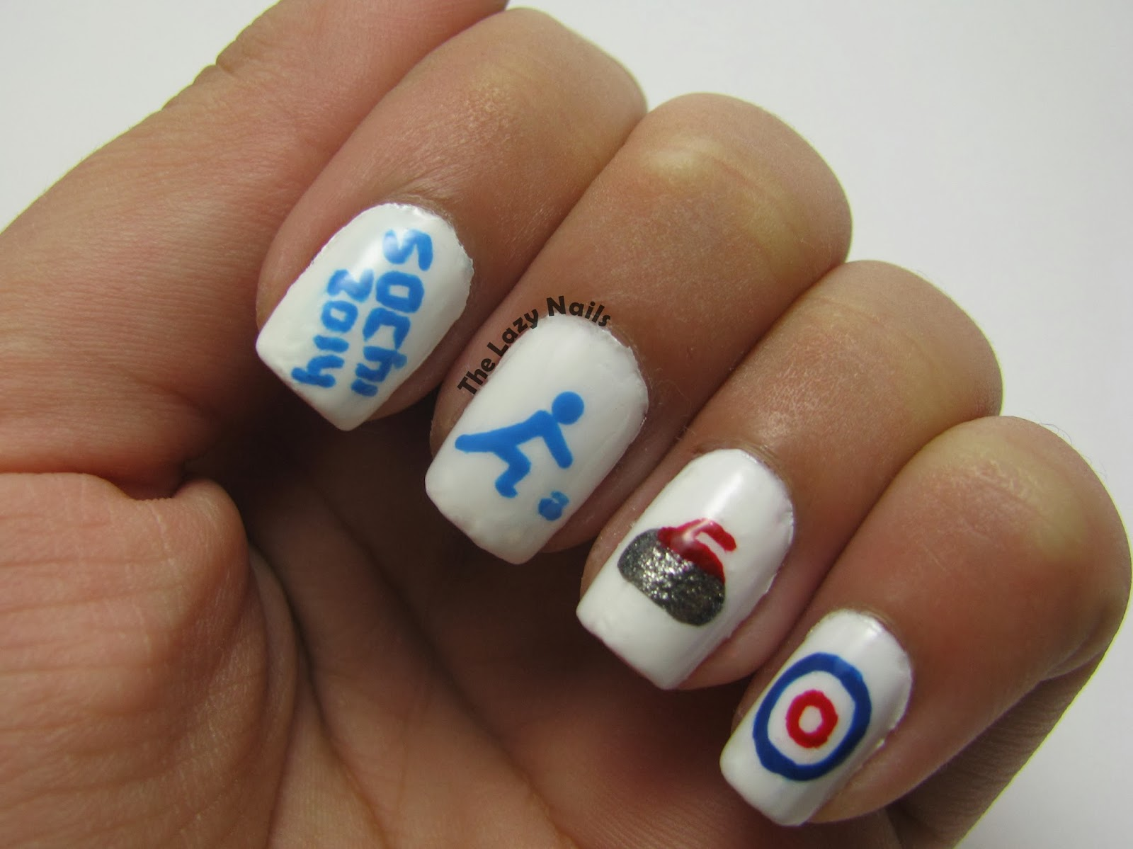 Sochi Olympic Games- Curling nails | The Lazy Nails