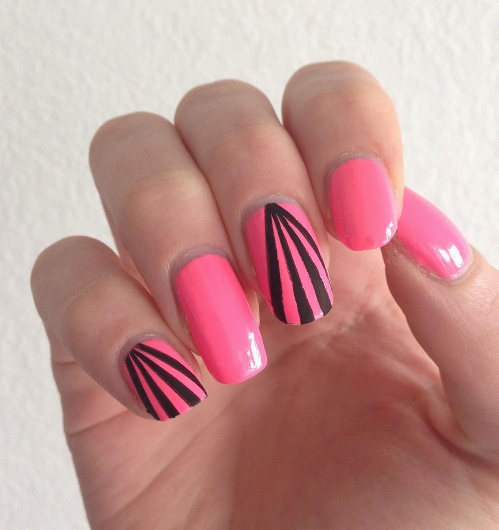 nfu oh mor 04 néon nails lignes