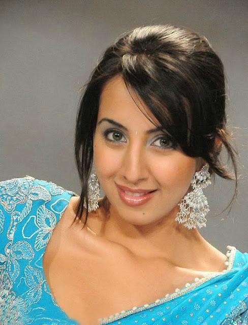 Sanjana In Blue Saree