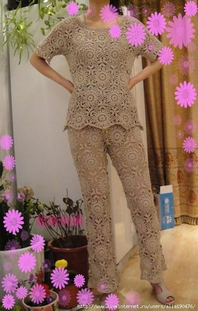 Blusa y Pantalón a Crochet