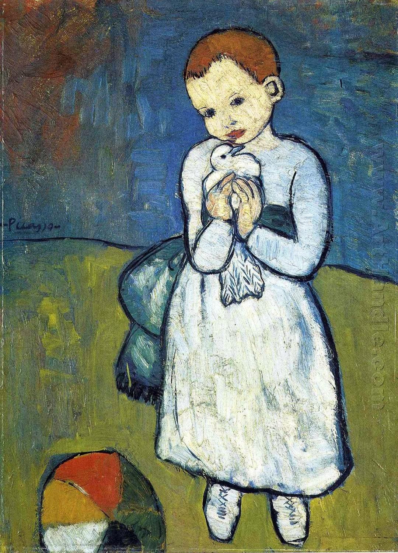 Пабло Пикассо Ребенок с голубем