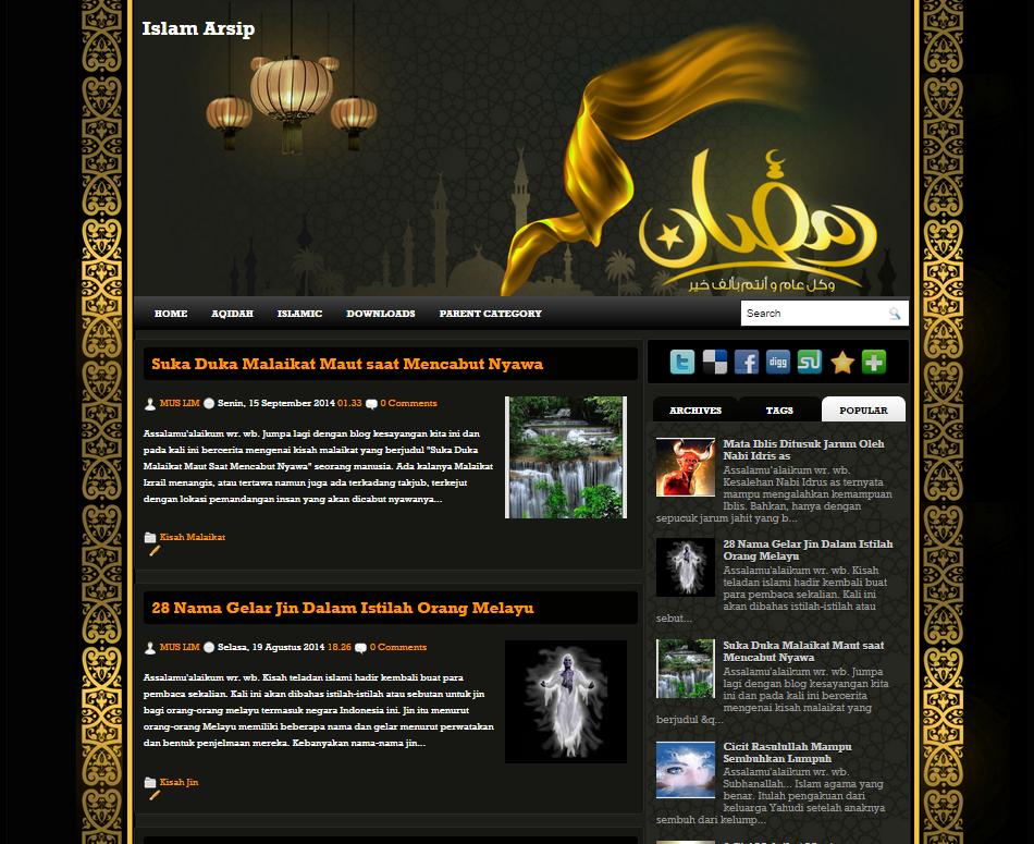 Screenshot - Free Premium Islamic Arab Blogger Ramadan Template 1