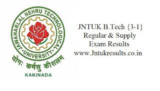 Jntuk 3-1 Results