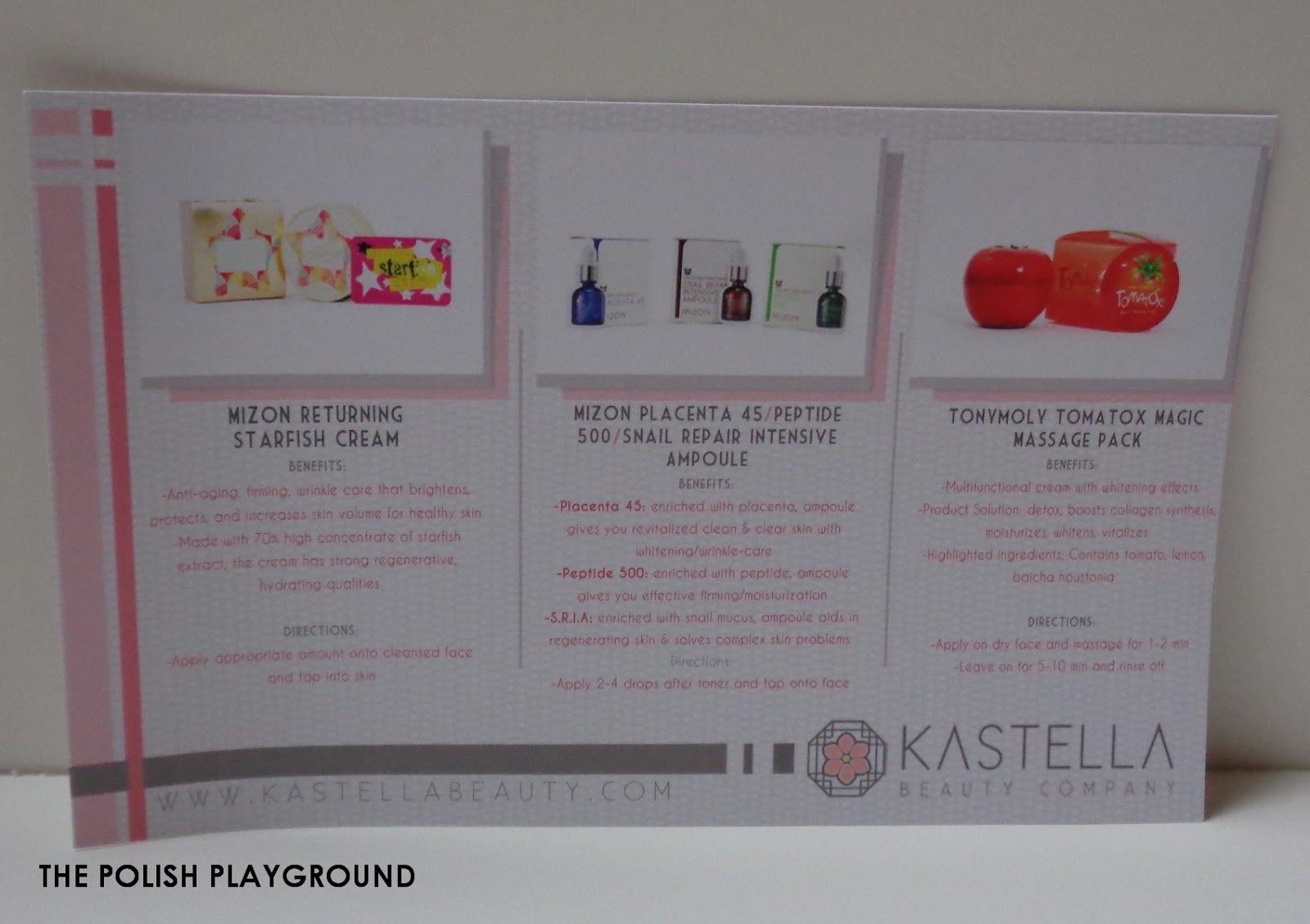 Kastella Beauty PR Kit Unboxing & First Impressions