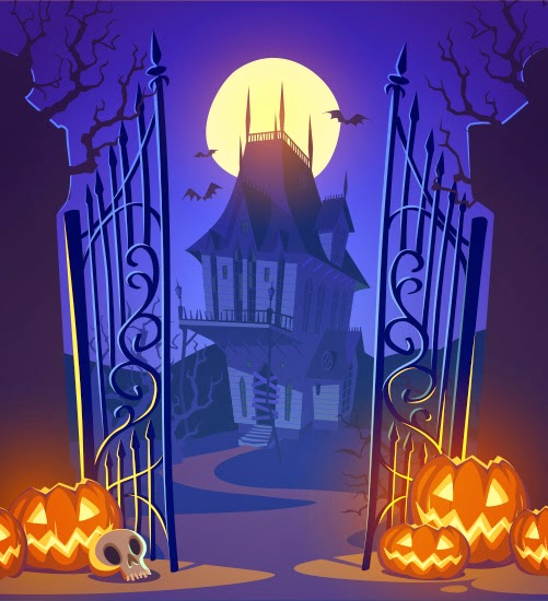 Casa encantada de Halloween imagen